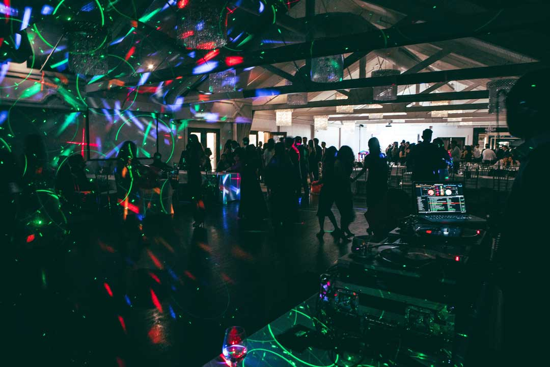 dance floor in melbourne with lighting hire at 21st birthday party