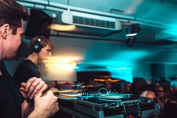 birthday party celebration in a club with dj