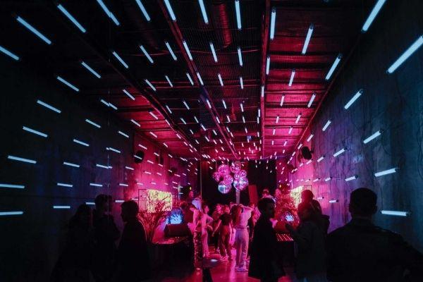 dancing in night club with dj